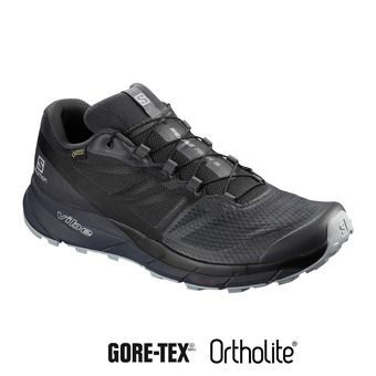 Salomon SENSE RIDE 2 INVISIBLE FIT GTX - Chaussures trail Homme ebony