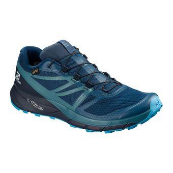 Salomon SENSE RIDE 2 INVISIBLE FIT GTX - Trail Shoes - Men's - poseidon