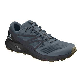 Salomon SENSE RIDE 2 - Trail Shoes - Men's - stormy weather/ebony/black