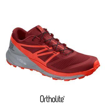 Salomon SENSE RIDE 2 - Chaussures trail Homme dahlia/cherry