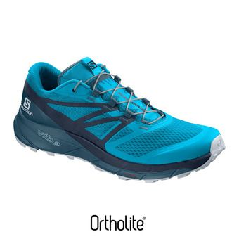 Salomon SENSE RIDE 2 - Chaussures trail Homme hawaiian o/navy blaze