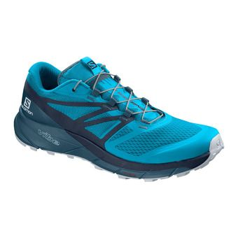 Salomon SENSE RIDE 2 - Chaussures trail Homme hawaiian ocean/navy blazer/mallard blue