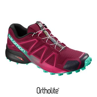 Salomon SPEEDCROSS 4 - Zapatillas de trail mujer beet red/electric