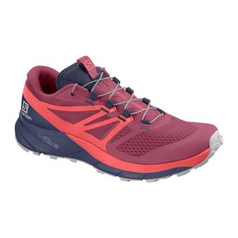 Salomon SENSE RIDE 2 - Trail Shoes - Women's - malaga/dubarry/crown blue