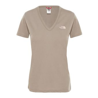 The North Face SIMPLE DOME - Camiseta mujer silt grey