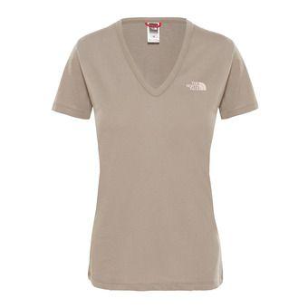 The North Face SIMPLE DOME - Tee-shirt Femme silt grey