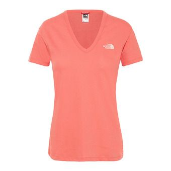 Tee-shirt MC femme SIMPLE DOME spiced coral