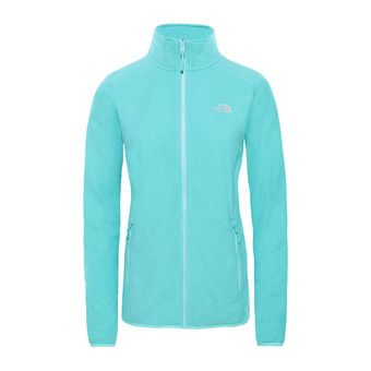 The North Face 100 GLACIER - Polaire Femme mint blue stripe