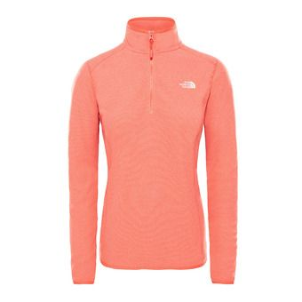 The North Face 100 GLACIER - Fleece - Women's - juicy red stripe