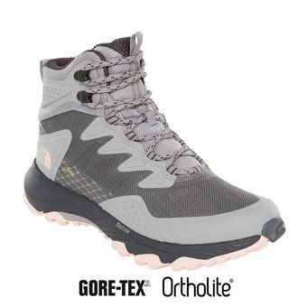 The North Face ULTRA FASTPACK III GTX - Chaussures randonnée Femme meld grey/pink salt