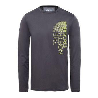 Camiseta hombre ONDRAS asphalt grey/lime green