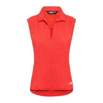 The North Face INLUX - Polo Donna juicy red dark heather