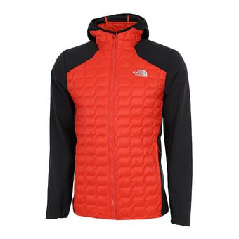 The North Face THERMOBALL - Hybrid Jacket - Men's - fiery red/tnf black
