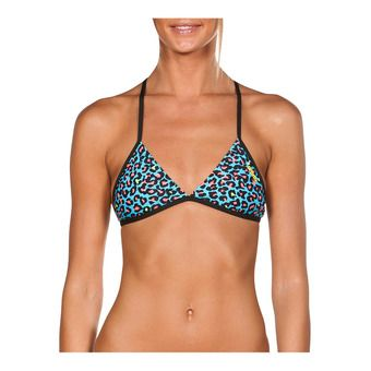 Arena TRIANGLE FEEL - Top de bikini mujer turquoise/multi black