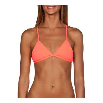 Top de bikini mujer TRIANGLE FEEL shiny pink/yellow star