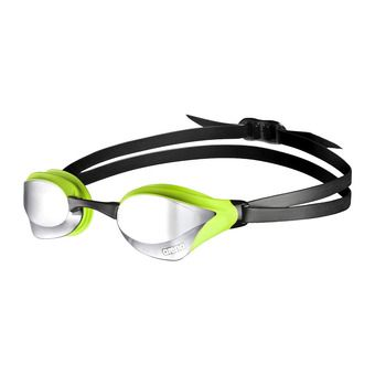 Arena COBRA CORE MIRROR - Occhialini da nuoto silver green