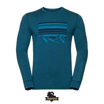 Haut thermique ML homme ALLIANCE blue coral/placed print fw18