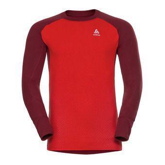 Camiseta térmica hombre ACTIVE syrah/fiery red