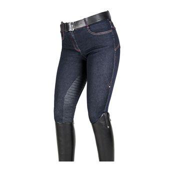 Pantalon 3/4 siliconé femme HEIO denim blue