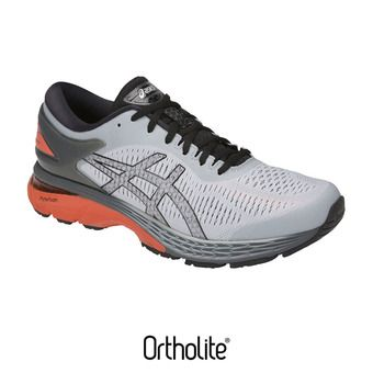 Zapatillas de running hombre GEL-KAYANO 25 mid grey/red snapper