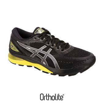 Asics GEL-NIMBUS 21 - Chaussures running Homme black/lemon spark