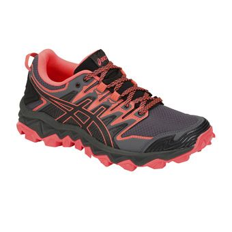 Asics GEL-FUJITRABUCO 7 - Trail Shoes - Women's - black/flash coral
