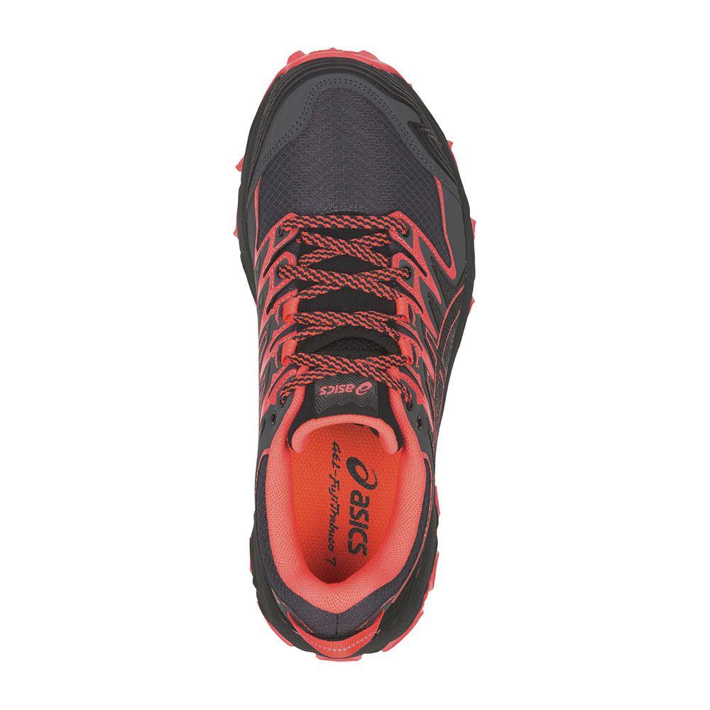 c013e5143b9 ... Zapatillas de trail mujer GEL-FUJITRABUCO 7 black flash coral ...