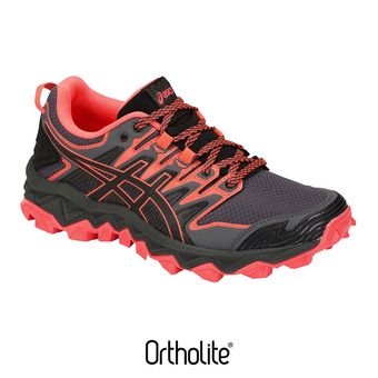 Chaussures trail femme GEL-FUJITRABUCO 7 black/flash coral