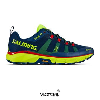 Salming TRAIL T5 - Chaussures trail Homme bleu/jaune