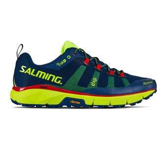 Salming TRAIL T5 - Trail Shoes - Men's - blue/yellow