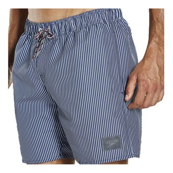 Short de bain homme GINGHAM CHECK LEISURE navy/white
