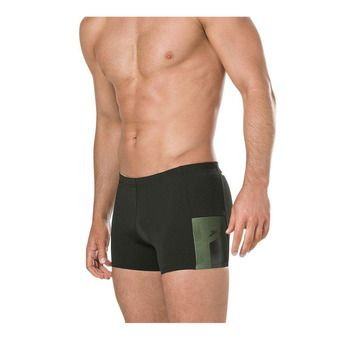 Speedo MESH PANEL - Boxer de bain Homme black/yellow