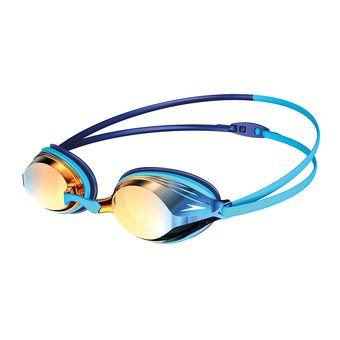 Speedo VENGEANCE MIRROR - Lunettes de natation blue/gold