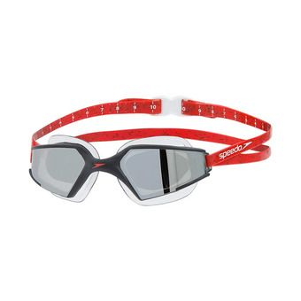 Speedo AQUAPULSE MAX 2 MIRROR - Swimming Goggles - black/red