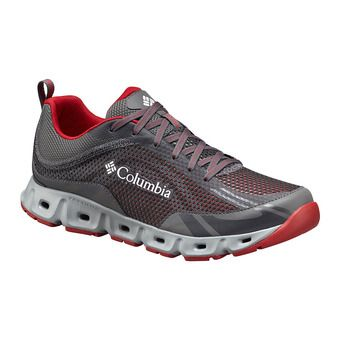 Columbia DRAINMAKER IV - Scarpette acquatiche Uomo city grey/mountain red