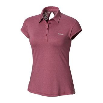 Peak to Point Nvlty Polo-Wine Berry Femme Wine Berry