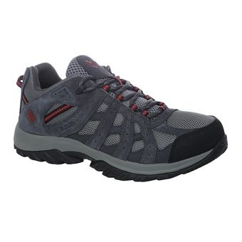 Columbia CANYON POINT WATERPROOF - Chaussures trail Homme charcoal/red element