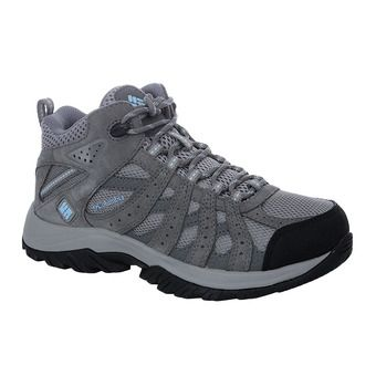 Columbia CANYON POINT WATERPROOF - Zapatillas de trail mujer light grey/oxygen