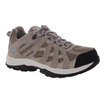 Columbia CANYON POINT WATERPROOF - Hiking Shoes - Women's - pebble/sky blue