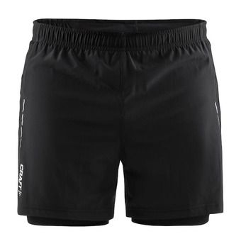 Short 2 en 1 homme ESSENTIAL noir