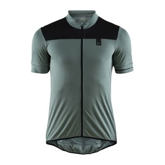 Maillot MC zippé homme POINT gravity/noir
