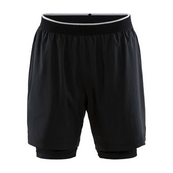 Craft CHARGE - Short 2 en 1 hombre black