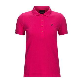 Polo MC femme CLAPIQUE fusion pink