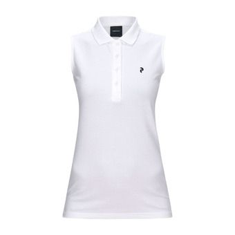Polo sans manches femme CLAPIQ white