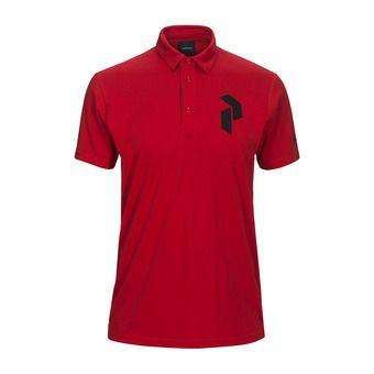 Peak Performance PANMOREPO - Polo - Men's - chinese red