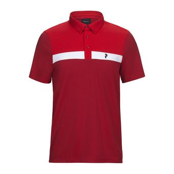 Peak Performance PANMORE - Polo - Men's - chilli pepper