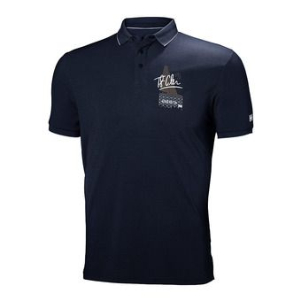 HP RACING POLO Homme GRAPHITE BLUE