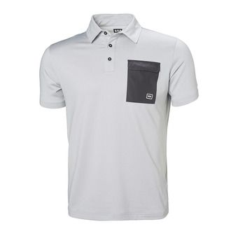 Helly Hansen OKSVAL - Polo - Men's - grey fog marl