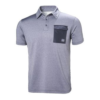OKSVAL SS POLO Homme GRAPHITE BLUE