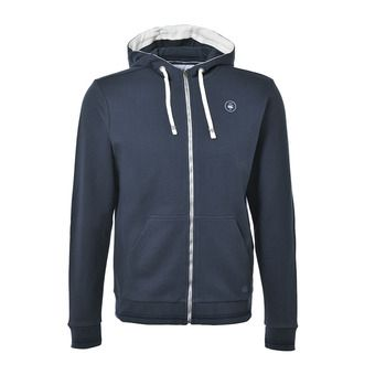 Sweat zippé à capuche homme MALBOROUGH navy